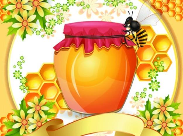Artistieke bijenkorf achtergrond vector set
