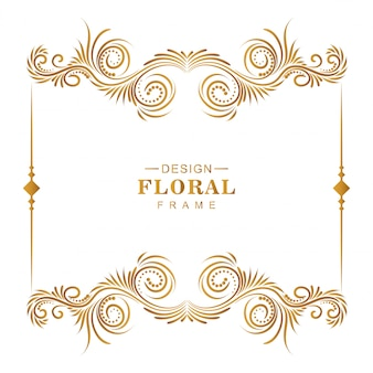 Artistieke bloemen decoratief frame achtergrond