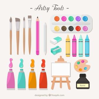 Artistieke gereedschappen voor het schilderen