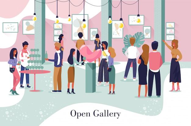 Artistieke posterreclame open galerij-evenement