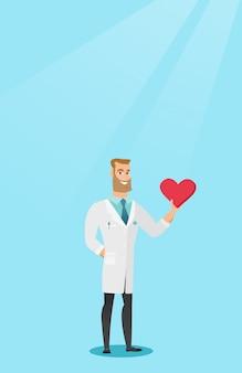 Arts cardioloog hart houden.