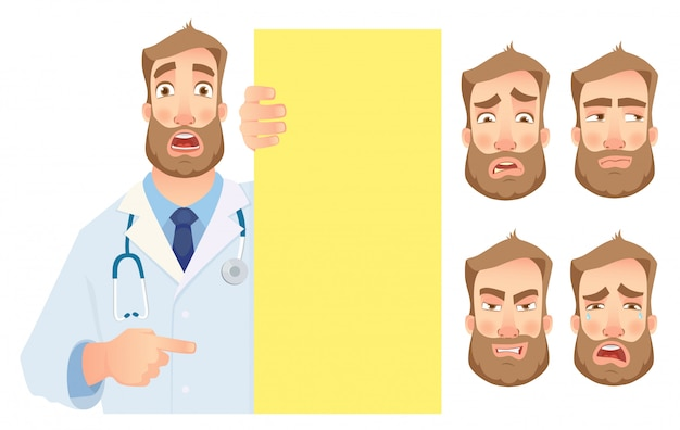 Arts die lege uithangbordreeks houdt