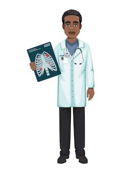 Arts die tijdens coronavirusuitbraak covid-19 werkt