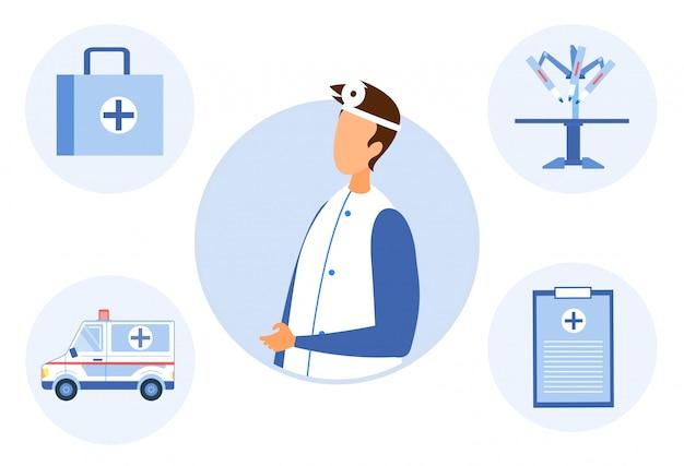 Arts en hulpmiddelen voor het behandelen van het waarnemen van patiënten