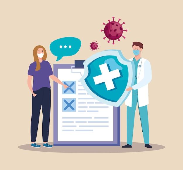 Arts en patiënt illustratie