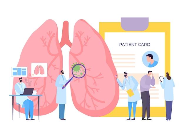 Arts gezondheidsbehandeling en zorg in platte kliniek