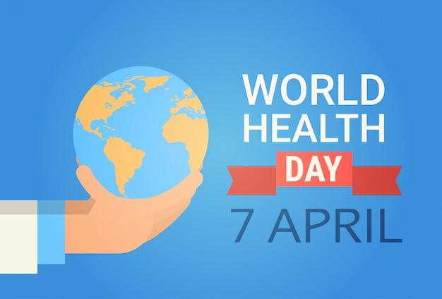 Arts hand houden earth planet health werelddag global holiday banner