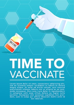 Arts hand met injector en vaccin
