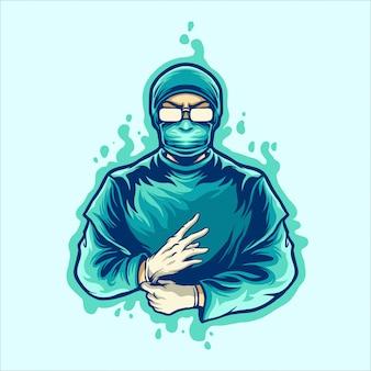 Arts klaar om met corona virus te vechten