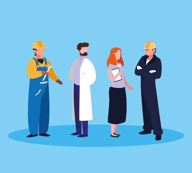 Arts met een groep professionals
