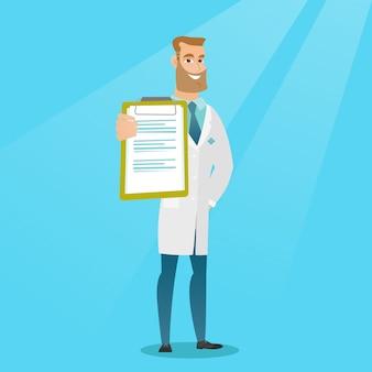 Arts met een klembord vectorillustratie.