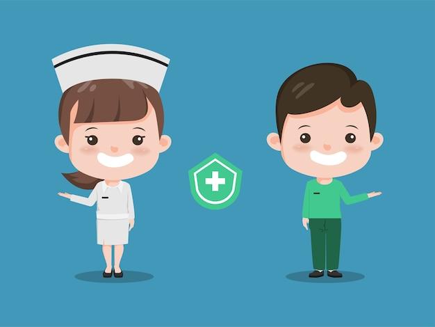 Arts met een stethoscoop medisch karakterontwerp. ziekenhuismedewerker mensen.