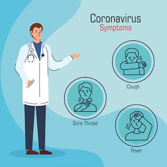 Arts met symptomen van coronavirus 2019 ncov