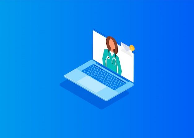 Arts online concept met karakter.