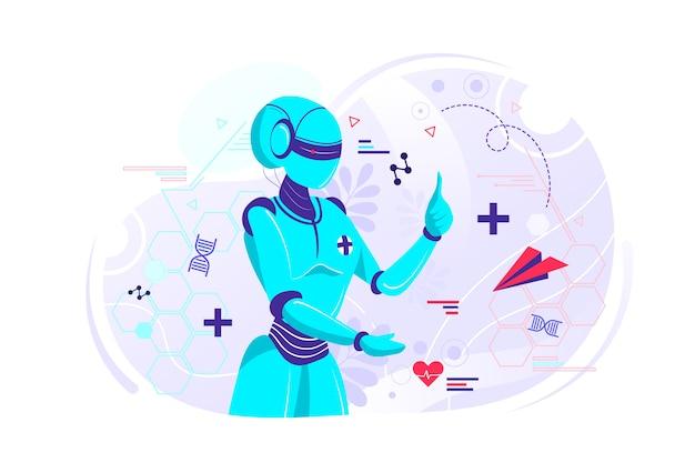 Arts robot illustratie