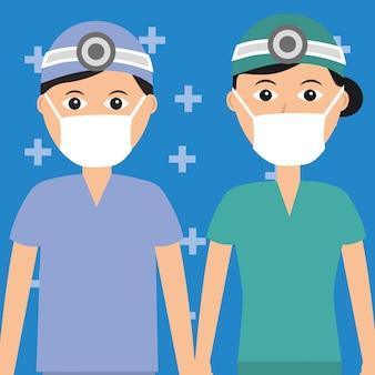 Arts tandarts vrouwelijke en mannelijke gezondheidszorg en medische beroep