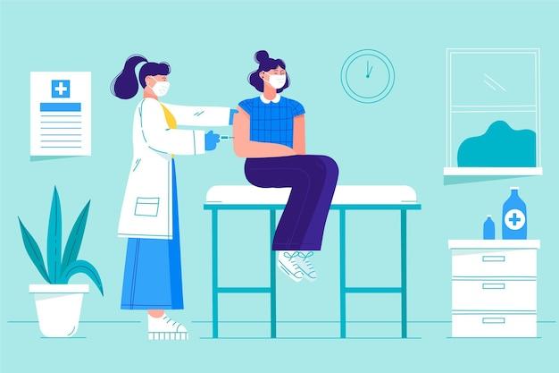 Arts vaccin injecteren aan een patiënt