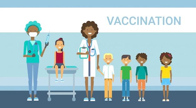 Arts vaccinatie van kinderziekte preventie immunisatie medische gezondheidszorg ziekenhuis service geneeskunde banner
