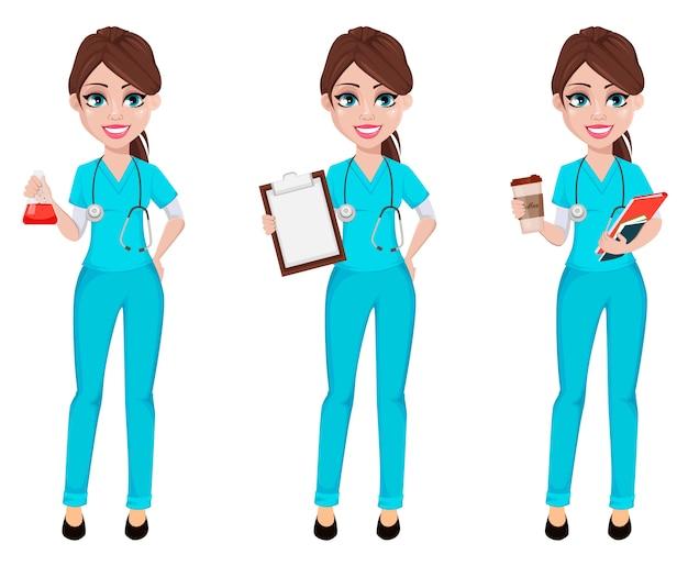 Arts vrouw. geneeskunde, gezondheidszorg concept