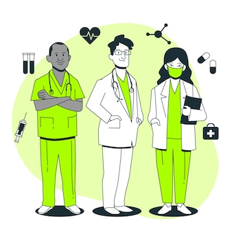 Artsen concept illustratie