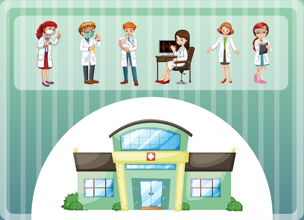 Artsen die in het ziekenhuis werken