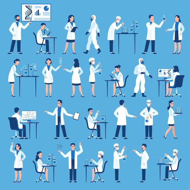 Artsen groep in laboratorium van het wetenschappelijk ziekenhuis