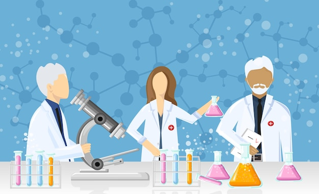 Artsen in een laboratoriumontwerp