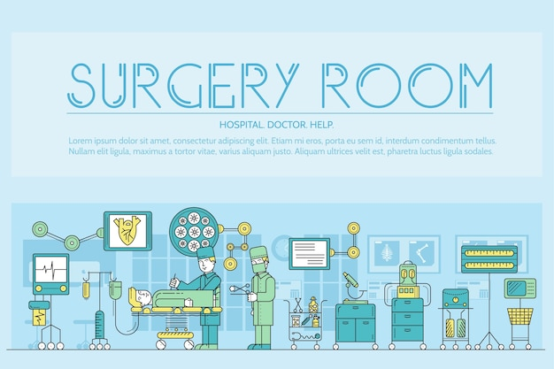 Artsen maken chirurgie schets concept
