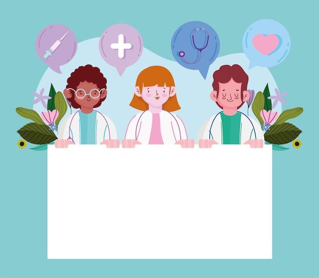 Artsen met een leeg bord