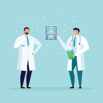 Artsen xray foto kijken