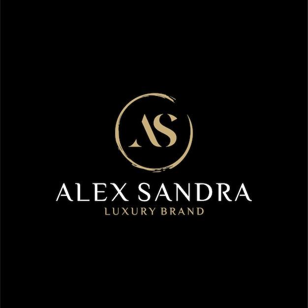 As logo monogram eerste brief ontwerpsjabloon inspiratie