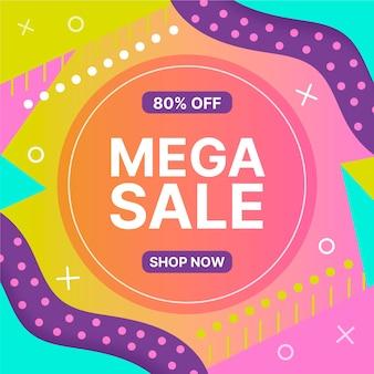 Asbtract banner kleurrijke verkoop