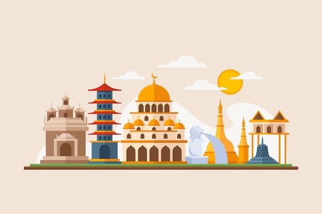 Asean gebouw illustratie