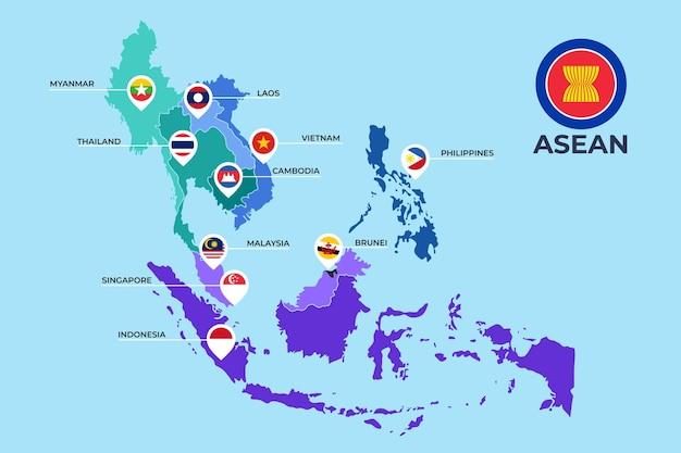 Asean kaart illustratie