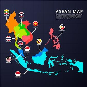 Asean kaart infographics