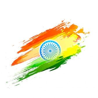 Ashoka-wiel op nationale vlagkleuren.