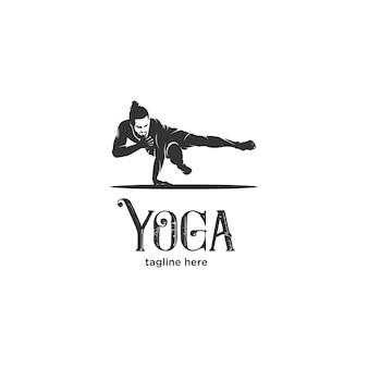 Ashtanga yoga houdingen silhouet logo