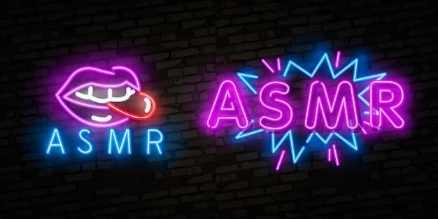 Asmr neon-tekst