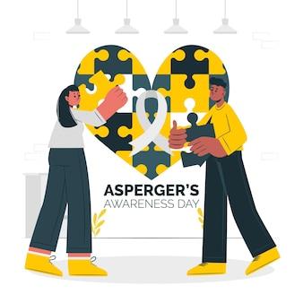 Asperger's awareness day concept illustratie