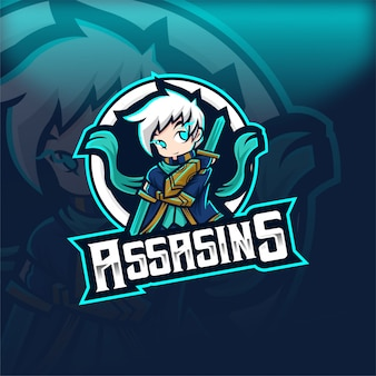 Assasins magic human esport mascot logo