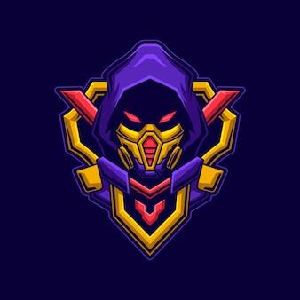 Assassin hoofd met masker concept