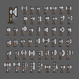 Assen voor het maken van videogames. set ii.