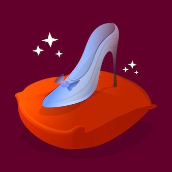 Assepoester glazen schoen