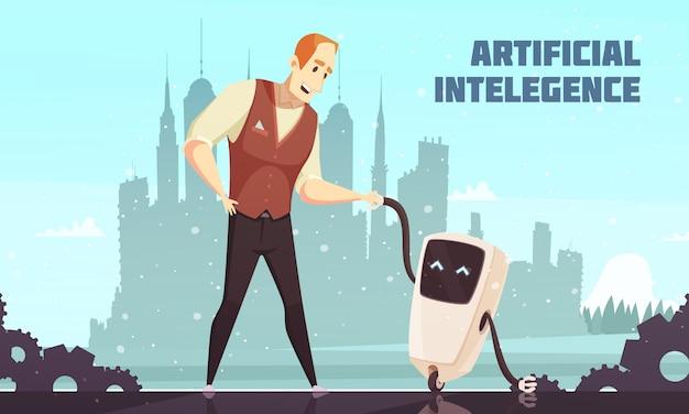 Assistenten voor kunstmatige intelligentie robots