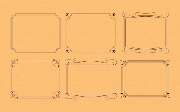 Assortiment kalligrafische sierlijsten