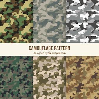 Assortiment van camouflagepatronen