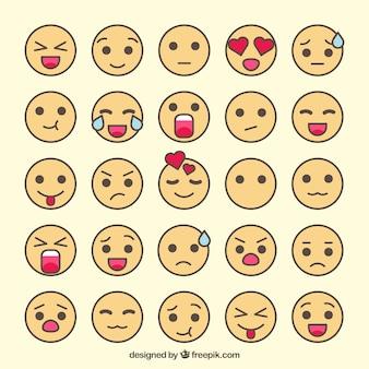 Assortiment van fantastische emoticons