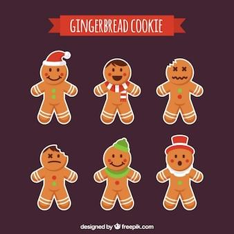 Assortiment van kerstmis koekje stickers