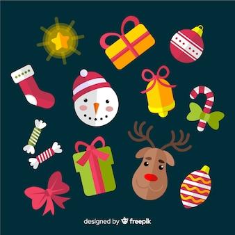 Assortiment van personages en accessoires voor kerstmis