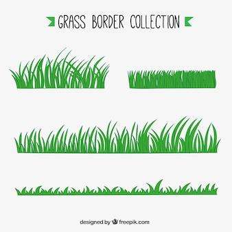 Assortiment van vijf gras grenzen